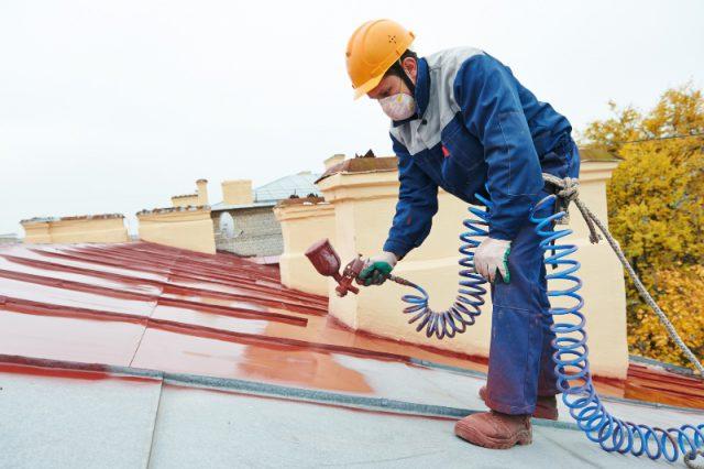 pistolet do malowania dachu